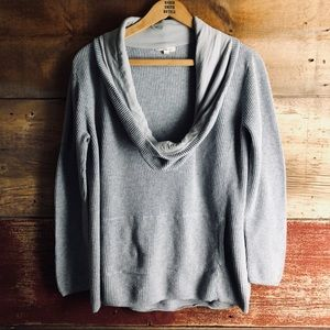 Eileen Fisher cotton cowl neck pullover